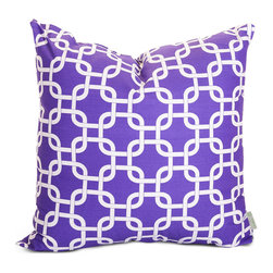 Majestic Home - Indoor Purple Links Large Pillow - Talk about a chain reaction. This pillow, made of durable cotton twill, has a fresh and fabulous pattern to add dash to your favorite modern setting.