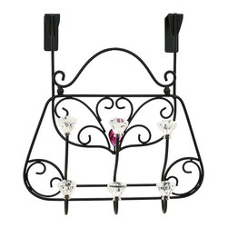 Boston Warehouse - Purse Over-the-Door Hook - Elegant and fashion-inspired, this ready-to-hang piece features an ornate purse design and has plenty of hooks for handbags, scarves and more. �� 8.464'' W x 10.04'' H x 4.72'' D Metal Imported
