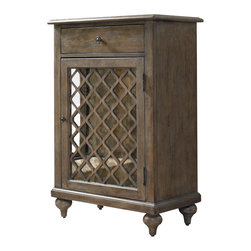 "Hooker Furniture - Hooker Furniture Mirrored Lattice Chest - This beautiful lattice chest features one drop-front drawer with an adjustable shelf behind the door. Hardwood Solids and Veneers; Hand painted. Dimensions: 27""W x 16""D x 40.25""H."