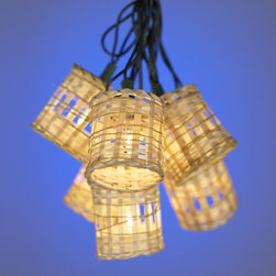 Lamps Plus - Ten Light Bamboo Lantern Party Light Set - Add a touch of style and a soothing light source to your exterior living space. Hang these stylish bamboo lanterns year-round. A great accent piece, this strand includes ten lights. This lighting will make a wonderful addition to your indoor or outdoor decor.