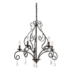 "Kichler - Kichler 43448OZ Marcele 1 Tier Chandelier w/5-Lights - 72"" Chain - 25"" Wide - Kichler 43448 Marcele Chandelier"