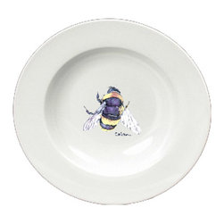 Caroline's Treasures - Bumble Bee Round Ceramic White Soup Bowl 8852-SBW-825 - Bumble Bee Round Ceramic White Soup Bowl 8852-SBW-825 Heavy Round Ceramic Soup Bisque Gumbo Bowl 8 3/4 inches. LEAD FREE, microwave and dishwasher safe. The bowl has been refired over 1600 degrees and the artwork will not fade or crack. The Artwork for this gift product and merchandise was created by Sylvia Corban copyright and all rights reserved.