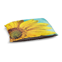 """DiaNoche Designs - Dog Pet Bed Fleece by Sylvia Cook - Pure Sunshine - DiaNoche Designs works with artists from around the world to bring unique, designer products to decorate all aspects of your home.  Our artistic Pet Beds will be the talk of every guest to visit your home!  BARK! BARK! BARK!  MEOW...  Meow...  Reallly means, """"Hey everybody!  Look at my cool bed!""""  Our Pet Beds are topped with a snuggly fuzzy coral fleece and a durable underside material.  Machine Wash upon arrival for maximum softness.  MADE IN THE USA."""