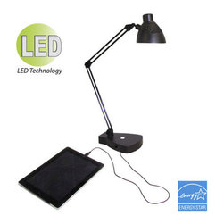 HomeSelects International - HomeSelects International 7606 Charger 1 Light Energy Star LED Desk Lamp - Features: