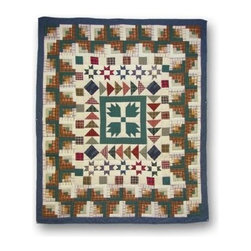 Patch Magic - Bear Creek Throw - 50 in. W x 60 in. L. 100% Cotton. Handmade, hand quilted. Machine washable. Line or flat dry only