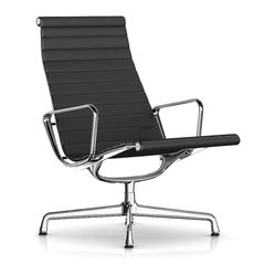 Herman Miller Eames Aluminum Lounge Chair, Leather