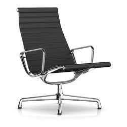 Herman Miller - Herman Miller Eames Aluminum Lounge Chair - Leather - This lounge-worthy chair invites you to take a seat, kick back and relax. With all the design hallmarks that made the iconic team of Charles and Ray Eames famous, its clad in leather for a look that's unmistakably modern.