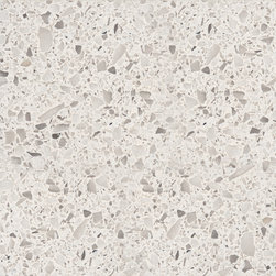 Nougat Caesarstone - Slightly taupe color with the effect of terrazzo, a great choice in low maintenance countertops.