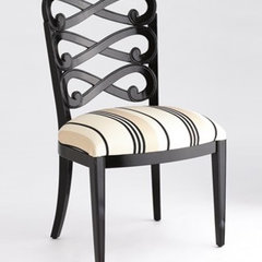 traditional dining chairs and benches by Jan Showers