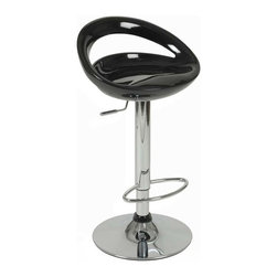 """Eurostyle - Eurostyle Agnes Adjustable Height Swivel Bar/Counter Stool in Black - Adjustable Height Swivel Bar/Counter Stool in Black belongs to Agnes Collection by Eurostyle If you've ever seen a science fiction movie��_��__.you know """"in a galaxy far, far away��_��__,"""" these are the chairs they had in the bar. And the future never looked this good. Molded ABS seat in a variety of colors make comfort and Wow! go together beautifully. Bar/Counter Stool (1)"""