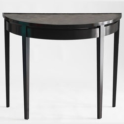 Palm Beach Demi Lune Table - I'm rather obsessed with console tables right now, especially in entry hallways. This curved version fits flush against the wall and is a great option for a tight hall space that's begging for some style.