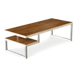 Gus - Ossington Coffee Table - An elegantly proportioned, rectangular coffee table with a simple storage component for attractive display of books and magazines.