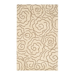 Safavieh - Contemporary Soho 5'x8' Rectangle Beige - Multi Color Area Rug - The Soho area rug Collection offers an affordable assortment of Contemporary stylings. Soho features a blend of natural Beige - Multi Color color. Hand Tufted of Wool the Soho Collection is an intriguing compliment to any decor.