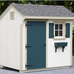 Lancaster County Barns - Lancaster County Barns 10 x 6 ft. Quaker Storage Shed - LCB-SK-QK610 - Shop for Sheds and Storage from Hayneedle.com! Additional featuresIncludes illustrated step-by-step assembly instructionsInterior measures: 9.3W x 5.3D x 7.5H ft.Door measures: 2.8W x 5.7H ft.Includes 5/8-inch flooring (5 ply : 1 clear side)Customer must supply shingles paint or stainCustomer supplies all tools required for assembly A place to hide the lawnmower the half-empty paint cans and the pool toys the Lancaster County Barns 10 x 6 ft. Quaker Storage Shed is a great buy. This kit arrives in pre-assembled panels so it's easy to finish it off. Once you have it done just paint it as you wish add some shingles and you've got an attractive and functional place to hide it all away. Hey there's even room for you in this one if you're looking for a little escape. We won't tell.About Lancaster County BarnsBuilt in proud Amish tradition the products of Lancaster County Barns are from the heart of Lancaster Penn. home of Amish craftsmen. Makers of high quality wood horse barns storage sheds chicken coops playhouses and more Lancaster County Barns is committed to excellence and customer service. They custom build and ship structures around the world and have been touted by the Philadelphia Home and Gardens Magazine Penn National Horse Show and other establishments. Let Lancaster County Barns provide you with old-fashioned quality at a fraction of the price with a resulting structure you'll be proud to own.Please note this product does not ship to Pennsylvania.