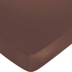 Sweet Jojo Designs - Deco Dot Chocolate Brown Crib & Toddler Sheet - The Deco Dot fitted crib sheet will help complete the look of your child's room. This chocolate brown polyester brushed microfiber sheet fits all standard crib and toddler mattresses and is machine washable for easy care.Dimensions: 52 in x 28 in x 8 in.