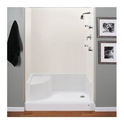 """MTI - MTI MTSB-6042Seated Shower Base (59.75"""" x 41.75"""" x 22"""") - Experience the ultimate in comfort and convenience with this seated shower base. Hand-built using the highest quality acrylic materials, this single threshold shower base is also available with a stunning teak tray that adds a little bit of warmth to your shower experience. Like all MTI products, all acrylic shower bases are built to order in the USA and ship within 7 business days, the fastest turnaround in the industry. Acrylic shower bases feature a 10 year limited warranty. Please note, custom orders may not be returned. More information regarding the return policy of your custom-built MTI Whirlpools product is available here. This shower base is compatible with the following MTI enclosures: Teutonic Series 60"""" One-Sided Shower Enclosure Nordic Series Shower Shield Nordic Series 60"""" Inline Panel/Door/Panel Also available in 48 inch width. All MTI seated tubs are available with optional Radiance(R) Heating to warm the seat and floor area. Features Single, front threshold with integrated seat; 3.5"""" drain opening pre-drilled* Integral tile flange Durable cross-linked cast acrylic shell is extremely scratch and stain-resistant, yet renewable because the color goes all the way through the material Non-porous surface makes cleaning and sanitizing faster and more effective Multi-layered backing of thick fiberglass/resin/titanium encloses wood reinforcement to prevent flexing of floor pan At least 30% thicker and stronger than other makes Textured bottom that meets ASTM F-462-1994 certification requirements for safer showering NAHB Certified 10-year Limited Residential Warranty View Spec Sheet*Please specify left- or right-hand drain when ordering.Note: This item usually ship in 14 business days from the manufacturer. Please allow an additional 2-3 business days for order transmittal and verification."""