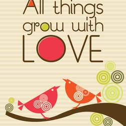 Murals Your Way - All Things Grow With Love Wall Art - Painted by Valentina Ramos, All Things Grow With Love wall mural from Murals Your Way will add a distinctive touch to any room