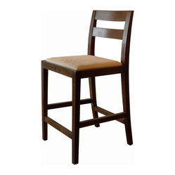 Big Sur Counter Stool, Dark Walnut