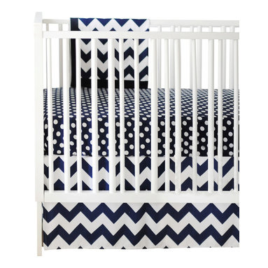 New Arrivals Inc. - Chevron Zig Zag Baby Navy Crib Bedding Set 3-Piece by New Arrivals Inc. - The Chevron Zig Zag Baby Navy Crib Bedding Set by New Arrivals Inc, along with the Zig Zag Navy bedding accessories.