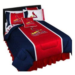 Store51 LLC - MLB St Louis Cardinals Bedding Set Baseball Bed, Twin - Features: