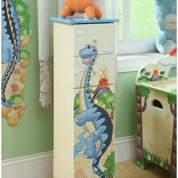 Teamson Design Dinosaur Kingdom 5 Drawer Tall Cabinet - About Teamson DesignBased in Edgewood, N.Y., Teamson Design Corporation is a wholesale gift and furniture company that specializes in handmade and hand painted kid-themed furniture collections and occasional home accents. In business since 1997, Teamson continues to inspire homes with creative and colorful furniture.