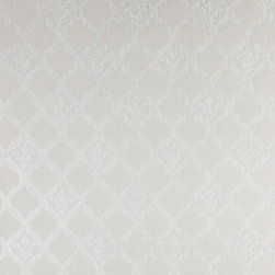 Brewster Home Fashions - Jakarta Pewter Ikat Motif Wallpaper Swatch - With a cultured Moroccan and Persian vibe this gorgeous ikat wallpaper wraps the room in a sophisticated pewter grey textile effect. The design is enhanced by lavish glitter inks.