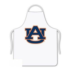 Sports Coverage - Auburn Tigers Tailgate Apron - Collegiate Auburn University Tigers White screen printed logo apron. Apron is 100% cotton twill with screenprinted logo. One Size fits all.
