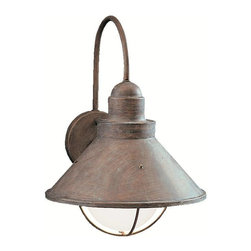 Kichler - Kichler Seaside Outdoor Wall Mount Light Fixture in Olde Brick - Shown in picture: Outdoor Wall 1-Light in Olde Brick