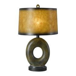Cal Lighting - Cal Lighting BO-956 1 Light Pedestal Base Table Lamp - Features: