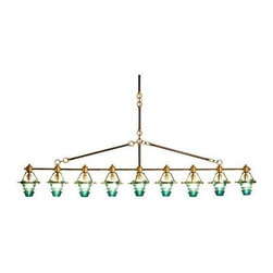 EuroLux Home - Bar-Style Light Fixture w/ 9 Consigned Vintage - Product Details