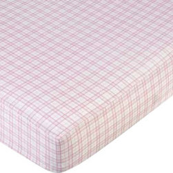 """Sweet Jojo Designs - Teddy Bear Pink - Plaid Crib & Toddler Sheet - Teddy Bear Pink fitted crib sheets will help complete the look of your Sweet Jojo Designs nursery. This Plaid 100% Cotton sheet fits all standard crib and toddler mattresses and is machine washable for easy care. The Crib Sheet dimensions are 52"""" x 28"""" x 8""""."""
