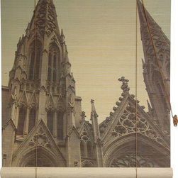 Oriental Furniture - St. Patricks Cathedral Bamboo Blinds 60 Inch, Width - 60 Inches - - These stunning bamboo matchstick blinds feature a lovely view of New York's famous St. Patrick's Cathedral.  Available in five convenient sizes.   Easy to hang and operate.  Available in five sizes, 24W, 36W, 48W, 60W and 72W.  All sizes measure 72 long. Oriental Furniture - WTCL09-43-60