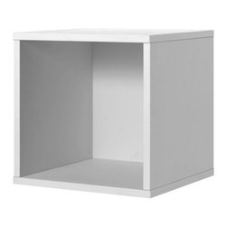 Foremost - Modular Open Cube White - Store your books and display your pictures in this white open cube. Made of wood composite and finished in veneer, this cube adds a classic yet contemporary touch to your decor. Buy more than one to pile them on top of each other for shelving. Unlimited combination options so you can create exactly the system you need.