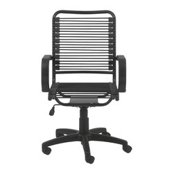 Eurostyle - Bradley Bungie Office Chair-Black/Graphite Black - Extra strong bungie cord loops