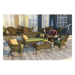 5 PC Rockport Outdoor Wicker Set, Brown