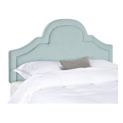 Safavieh - Kerstin Sky Blue Arched  Headboard (Queen) - Romantic and refined, the beautifully arched Kerstin queen headboard adds architectural interest to any bedroom in need of a dramatic focal point.