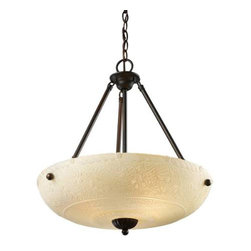Landmark Lighting - Landmark Lighting Restoration 66322-4-LED 3-Light Pendant in Aged Bronze - LED - 66322-4-LED 3-Light Pendant in Aged Bronze - LED - 800 Lumens belongs to Restoration Pendants Collection by Landmark Lighting A Grouping Of Ceiling Lighting Developed With A Discriminating Concern For Preserving Historic Lighting And Architectural Designs. This Offering Of Expert Restoration And Replication Fixtures Is Offered In A Wide Variety Of Styles And Sizes. - LED, 800 Lumens (3200 Lumens Total) With Full Scale Dimming Range, 60 Watt (240 Watt Total)Equivalent , 120V Replaceable LED Bulb Included Pendant (1)