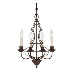 Quoizel - Quoizel QZ-LLA-5004-RA Laila Transitional Chandelier - The comfortable style of this collection makes your home feel warm and inviting.  The open feel of the cage like structure adds visual interest and the candelabra lights emit a soft and cozy glow for a touch of romance.  It adds an artistic flair to any room.