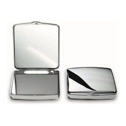 WS Bath Collections - Smile 801 Lighted Pocket Mirror - Smile 801 Lighted Pocket Travel Mirror, 7x/1x Magnification