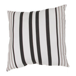 """Jaipur Rugs - Black/Ivory color polyester odl hugo poly fill pillow 20""""x20"""" - These fashion forward pillows, in trellis, stripes and whimsical patterns are for both indoor and outdoor use."""