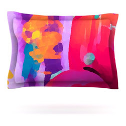 """Kess InHouse - Oriana Cordero """"Vespa II"""" Pink Purple Pillow Sham (Woven, 30"""" x 20"""") - Pairing your already chic duvet cover with playful pillow shams is the perfect way to tie your bedroom together. There are endless possibilities to feed your artistic palette with these imaginative pillow shams. It will looks so elegant you won't want ruin the masterpiece you have created when you go to bed. Not only are these pillow shams nice to look at they are also made from a high quality cotton blend. They are so soft that they will elevate your sleep up to level that is beyond Cloud 9. We always print our goods with the highest quality printing process in order to maintain the integrity of the art that you are adeptly displaying. This means that you won't have to worry about your art fading or your sham loosing it's freshness."""