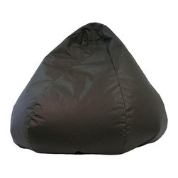 Hudson Industries - Jumbo LeatherLook Beanbag-Walnut - Cool wipe-clean leatherlook vinyl round oversized beanbag. Child safe zipperFilled with expanded polystyrene beads. Double stitched . 30 Day Manufacturer's Warranty. 41 in. W x 41 in. H (8 lbs)