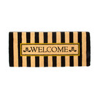Awning Stripe Double Door Welcome Mat | MacKenzie-Childs - If there's no second chance at a first impression, make yours count! Greet guests with beautifully detailed, natural entrance mats. For use in protected areas only.