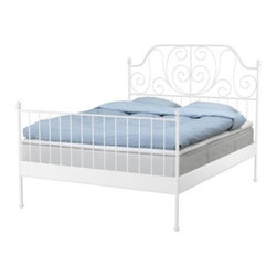 Carina Bengs/IKEA of Sweden - Leirvik Bed Frame - I like the white metal because it would be awesome in a white room. It's just simple and elegant.