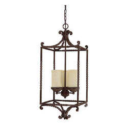 Capital Lighting - Capital Lighting 9224-261 4 Light Foyer Mini Cage Chandelier - Capital Lighting 4 Light Foyer from the Highlands CollectionFeatures: