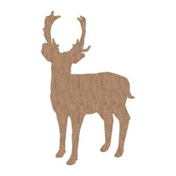 Deer - Cork - Deluxe XXL - Crearreda - Give your space dramatic, organic flair by adding a Deer - cork - Deluxe XXL - Crearreda to your wall. Designed to make a bold, designer statement, this grand decal is made of natural cork, offers peel-and-stick application, and may be repositioned or removed. Oh dear!