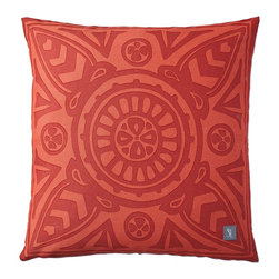 Poppy Scarf Print Outdoor Pillow - We love the free-spirited feel of this fashionably oversized mosaic. Printed on our all-weather fabric, it withstands the elements with style. Consider it for everything from outdoor pillows and curtains to cushions for the kitchen banquette.