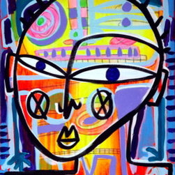 """Deconstructed Summer Self Portrait (Original) by Stucky - 16x20"""" on gallery wrap stretched canvas, sides painted black"""