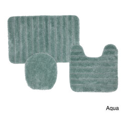 None - Prestige Non-skid Bath Rug 3-piece Set - This three-piece rug set provides you with several places to step when getting out of the bathtub or shower. Each rug has a skid-resistant latex back to keep you from slipping and hurting yourself. You have a choice of several colors.