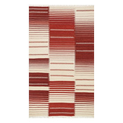 "Loloi Rugs - Loloi Rugs Rio Collection - Red, 3'-6"" x 5'-6"" - Looking for a rug that combines the best of both style and durability? Then consider a Rio. Hand woven in India of 100% New Zealand wool, we have re-imagined typical flat weaves by way of contemporary design. Each Rio also features nuanced variations in color throughout the rug for added beauty. Best of all, these rugs are durable, reversible, and crafted to withstand plenty of foot traffic."